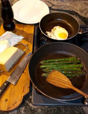 Slik gjørman med asparges