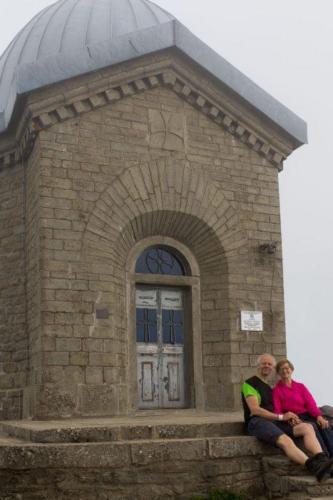 Sissel og Tage på toppen av Monte Cimone!
